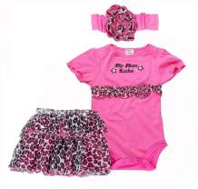 CRAZY GOTEND Toddler Baby Girl's Romper Dress Set Jumpsuits with Headband 3pcs Outfit