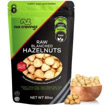 Raw Blanched Hazelnuts Filberts, No Shell (80oz - 5 Pound) Packed Fresh in Resealable Bag - Nut Trail Mix Snack - Healthy Protien Food, All Natural, Keto Friendly, Vegan, Kosher