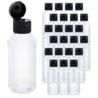 U.S. Art Supply 4 ounce Squeeze PET Plastic Bottles with Flip Cap - BPA-free, food safe, medical grade plastic, acrylic pouring paint Great For Hand Sanitizer (Pack of 24)