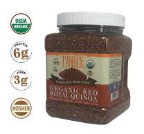 Pride Of India - Organic Red Royal Quinoa - 100% Bolivian Superior Grade Protein Rich Whole Grain, 1.5 Pound (24oz) Jar