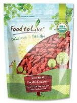 Organic Goji Berries by Food to Live, Sun Dried, Large and Juicy — 1 Pound