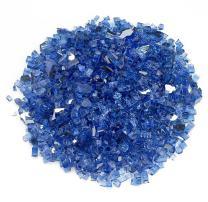 """American Fireglass 1/4"""" Cobalt Blue Reflective Fire Glass, 20 lb. Bag"""