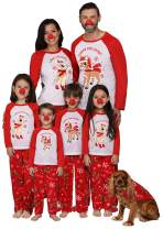 Rudolph Matching Family Pajama - Reindeer Christmas PJs Red Nose Included