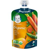 Gerber 2nd Foods Organic Food Pouches, Pear, Carrot, Peas, 3.5 Ounce (Pack of 12)