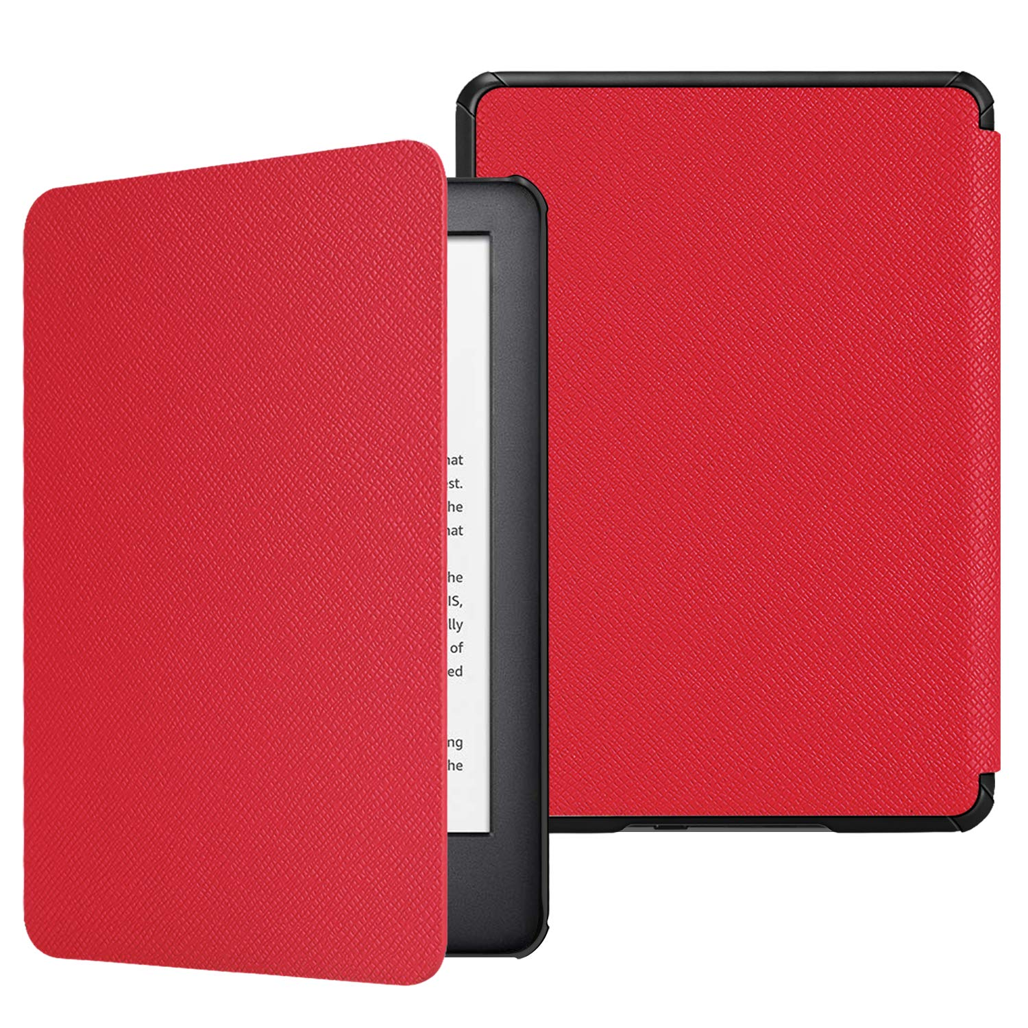 Fintie Slimshell Case for All-New Kindle (10th Generation, 2019 Release) - Lightweight Premium PU Leather Cover with Auto Sleep/Wake (NOT Fit Kindle Paperwhite or Kindle 8th Gen), Red
