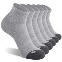 FITRELL 6 Pack Men's Athletic Ankle Socks Cushioned Sports Running Socks 7-9/9-12/12-15