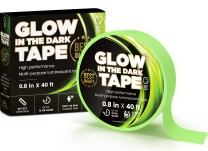 SAY HO UM Glow in The Dark Professional Luminescent Duck Tape for Theater Stage, Steps, Stairs   40 feet Roll   12 Hour High Performance Green Glow   Waterproof, Adhesive, Removable Tape Stickers