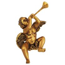 Design Toscano Christmas Decorations - Trumpeting Angel Boy of St. Peters Square - Holiday Angel Statue