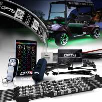 OPT7 Single Row 10pc Aura Golf Cart Underbody Glow LED Lighting Kit | Multi-Color Accent Neon Strips w/Switch