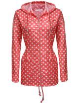 Zeagoo Women's Hooded Lightweigt Waterproof Rainwear Outdoor Long Slim Raincoat