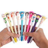 BestGrew 10pcs Doctor and Nurse Polymer Caly Ball Point Pens Cute Novelty Lovely Cartoon for Writing Stationery School Office Supplies