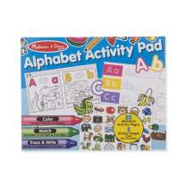 Melissa & Doug Alphabet Activity Sticker Pad for Coloring, Letters (250+ Stickers, Great Gift for Girls and Boys - Best for 4, 5, 6, 7, 8 Year Olds and Up)