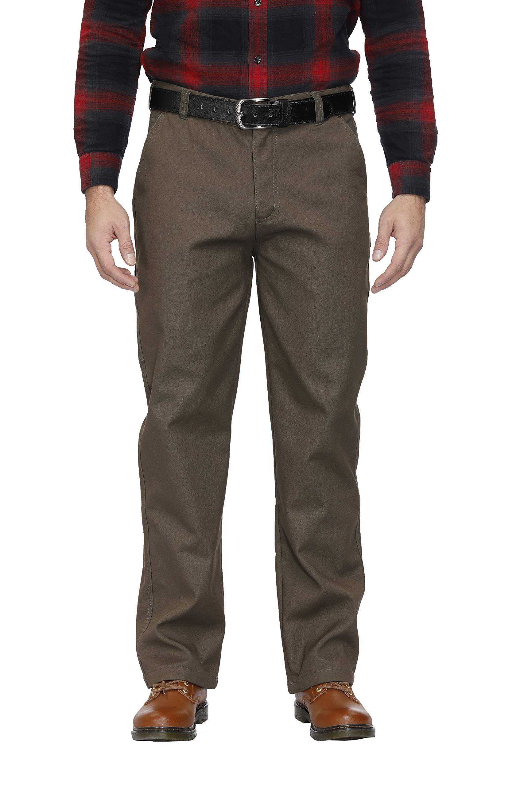 MOHEEN Men's Relaxed Fit Cotton Fleece Lined Work Cargo Pant with 8 Multi-Pocket