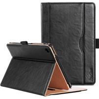 Procase ASUS ZenPad S 8.0 Z580C Case (2015 ZenPad Z580C,Z580CA) with Bonus Stylus Pen - Stand Cover Folio Case for ASUS ZenPad S 8.0 Z580C, Multiple Viewing Angles, Document Card Pocket (Black)