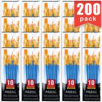 Painting Brush Suit, 20 Packs /200 Pieces, Nylon Brush Head, Suitable for Oil and Watercolor, Perfect Suit of Art Painting, Best Gift for Painting Enthusiasts.