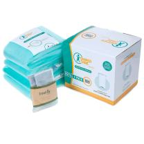 4 Pack Diaper Refill Liners - Compatible with Dekor CLASSIC Refill - Disposable Diaper Pail Liners Hold Up To 2000 Diapers – Baby Scented Refills with Natural Bamboo Charcoal Smell Eliminator Bags