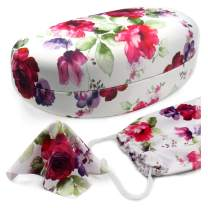 MyEyeglassCase Large Hard Sunglasses Case   fits Large to Extra Large curved Sunglasses, with microfiber cloth