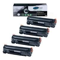 DIGITONER Compatible CE278A CRG128 CRG126 Toner Cartridge – CE278A CRG128 CRG126 High Yield Toner Cartridge Replacement for HP Laser Printer – Black [4 Pack]