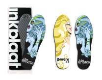 Inkblaat Odor Fighting Insoles – 24 Designs - Quirky, Fashion, Eco-Friendly Shoe Inserts – Small - Beuaty/Beyotch