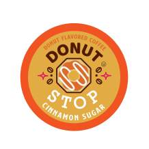 Donut Stop Coffee Flavored Coffee Pods, Compatible with 2.0 K-Cup Brewers, Cinnamon Sugar Donut Flavor, 40 Count