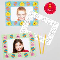 Baker Ross Easter Sand Art Picture Frames (8 Pack) Creative Arts and Crafts Supplies for Kids to Make and Decorate