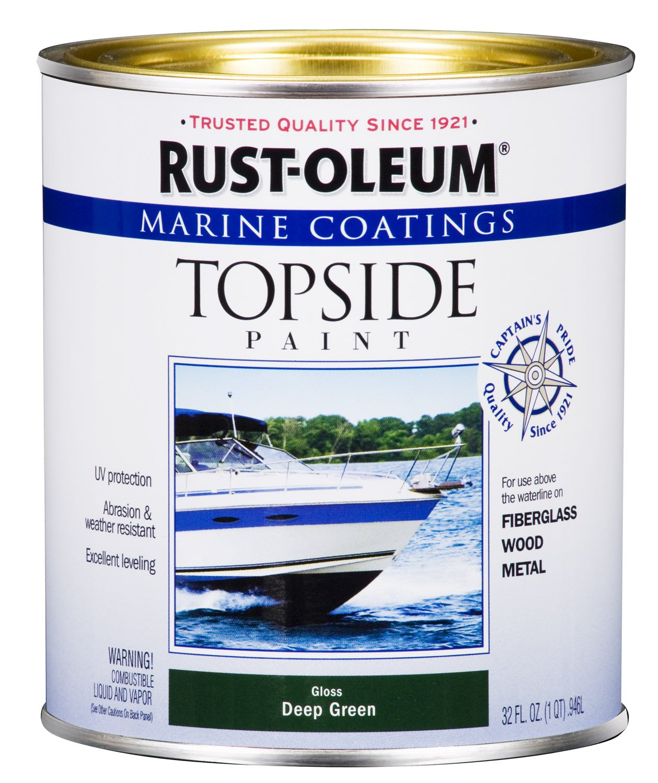 Rust-Oleum, Deep Green 207007 Marine Coatings Topside Paint, Quart, 1