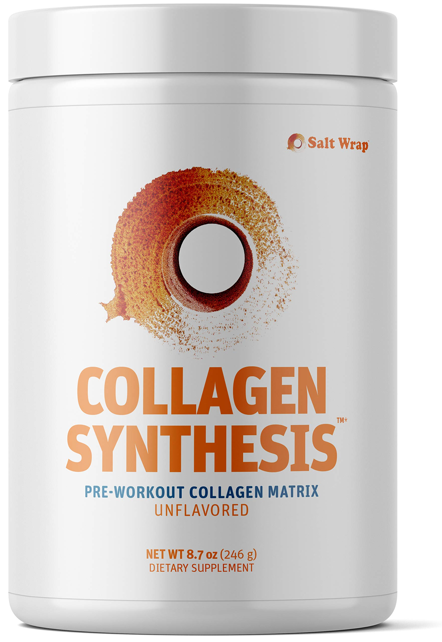 Collagen Synthesis - Pre Workout Collagen Peptides Powder for Tendon, Ligament & Cartilage Healing – Supplement to Boost Collagen Production & Repair with Vitamin C – Unflavored
