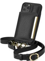 Smartish iPhone 11 Pro Crossbody Case - Dancing Queen [Purse/Wallet with Detachable Strap & Card Holder] - Stiletto Black-Gold