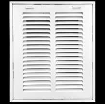 """8"""" X 6"""" Steel Return Air Filter Grille for 1"""" Filter - Removable Face/Door - HVAC Duct Cover - Flat Stamped Face -White [Outer Dimensions: 9.75w X 7.75h]"""
