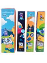DEENO-Saur Organic Children's Bamboo Toothbrush for Ages 3+   Three Colour   Soft Fibre Bristles   Plastic and BPA Free   100% Biodegradable   Vegan Eco Friendly Kids Toothbrushes by Deeno
