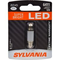 SYLVANIA - 6411 41mm ZEVO LED Festoon White Bulb - Bright LED Bulb, Ideal for Interior Lighting - Map, Dome, Trunk, Cargo and License Plate (Contains 1 Bulb)