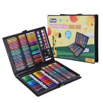 Kids Art Kit 175 Piece Art Supplies for Painting and Drawing with Colored Pencils Crayons for Children and Beginner Black