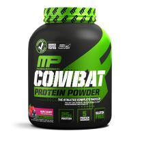 MusclePharm Combat Protein Powder, Essential Whey Protein Powder, Isolate Whey Protein, Casein and Egg Protein with BCAAs and Glutamine for Recovery, Triple Berry, 4-Pound, 54 Servings