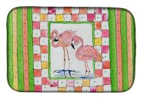 """Caroline's Treasures 8077DDM Bird - Flamingo Dish Drying Mat, 14 x 21"""", multicolor"""