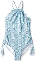 Seafolly Girls' Big Key Hole Tank One Piece Swimsuit