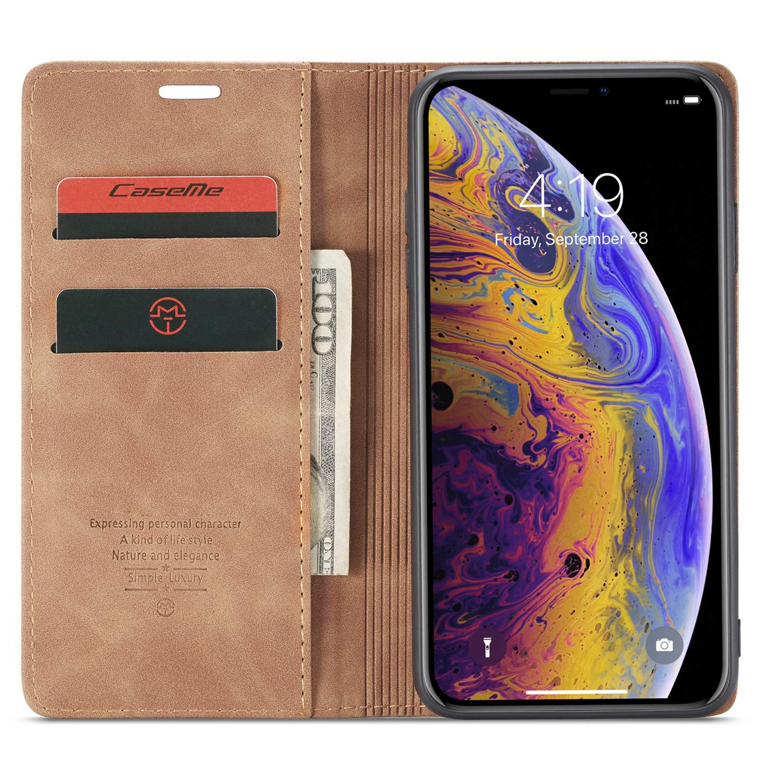 Iphone 7/8/7Plus/8Plus Wallet Case with Card Holder, Kickstand Magnet Flip Cover