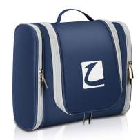 Hanging Toiletry Bag Travel Makeup Bag Water Resistant Cosmetic Bag for Women & Men with Compartments (Dark Blue)