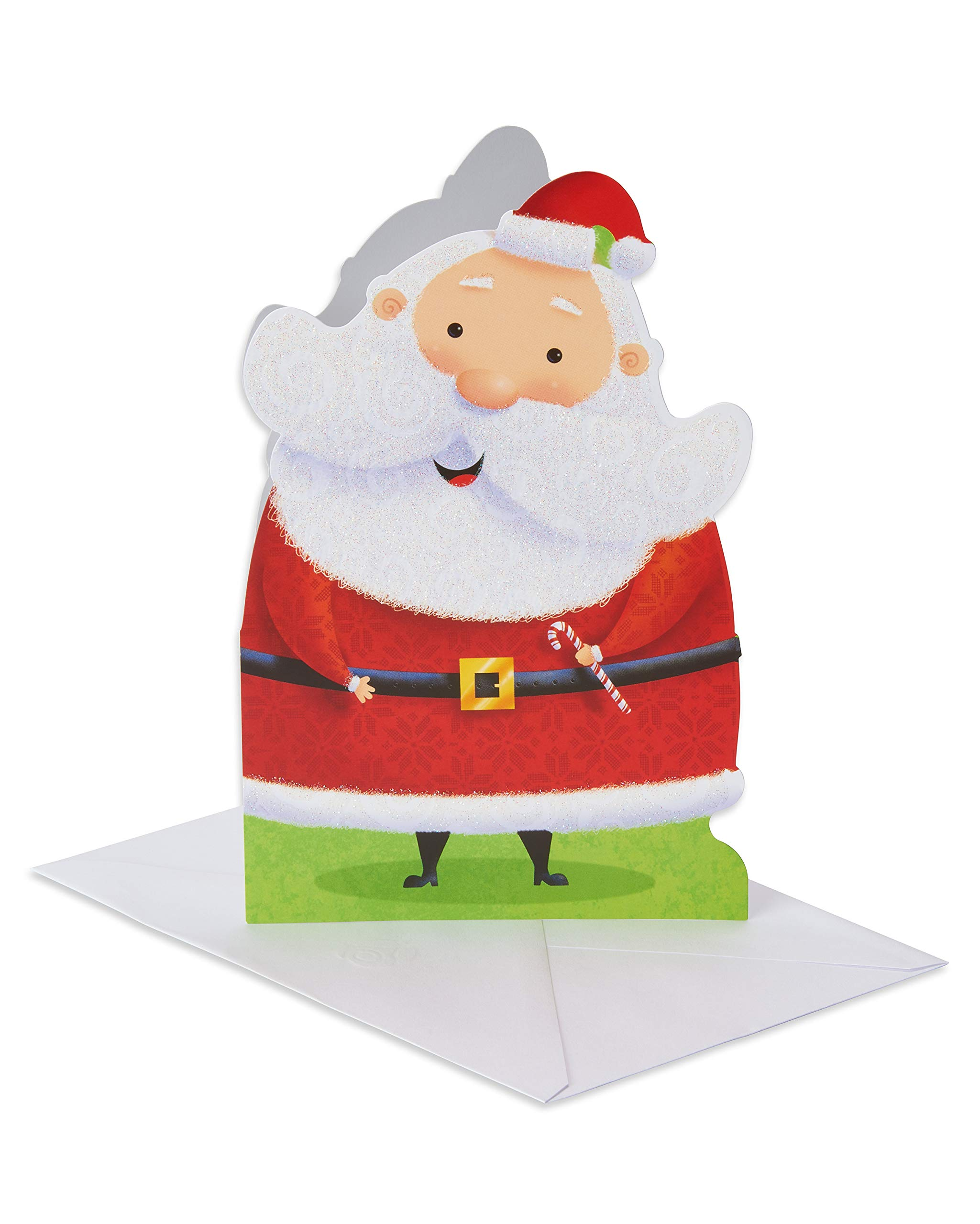 American Greetings Santa Christmas Card, 6-Count