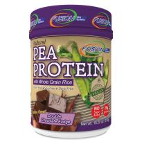 Fusion Plant Based Vegan Protein – Double Chocolate Fudge, Best Pure Raw Complete Sports Performance Meal Replacement Shake, Gluten-Free, Sugar-Free, 12 Servings, by Fusion Diet Systems