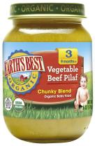 Earth's Best Organic Stage 3 Baby Food, Vegetable Beef Pilaf, 6 oz. Jar (Pack of 12)