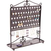 Angelynn's Dangle Stud Earring Holder Jewelry Organizer Hanging Organizer Display Case Stand Closet Storage Rack, Ginger Oil Rubbed Bronze