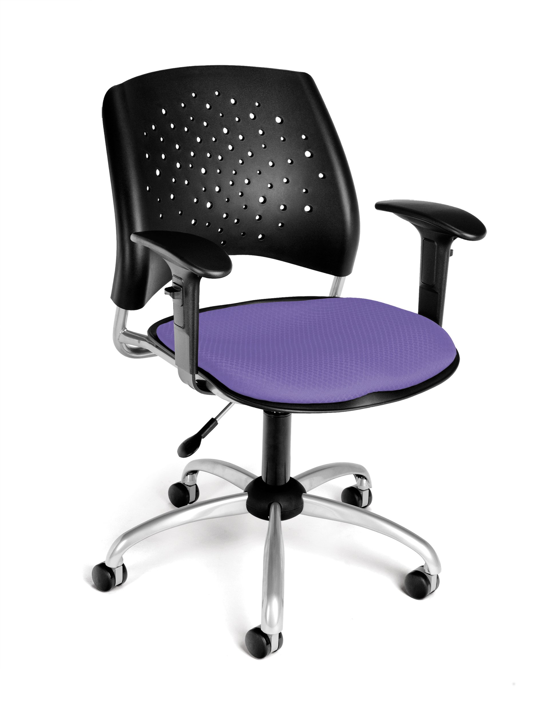 OFM Stars Swivel Chair with Arms, Lavender