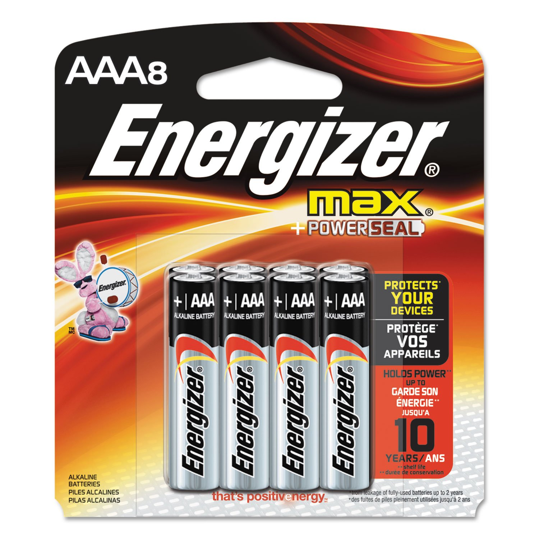Energizer Max Alkaline AAA Batteries 8 ea