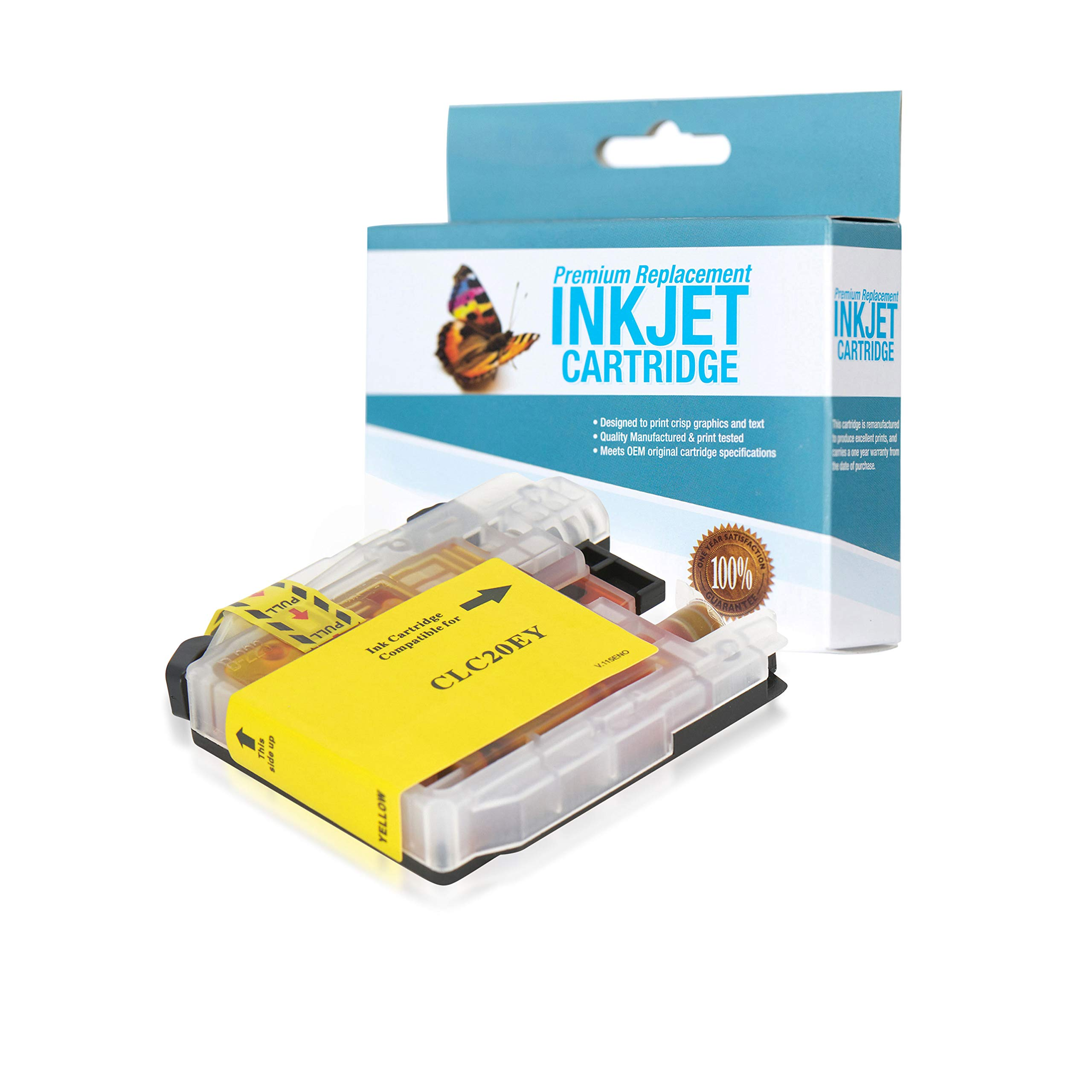 SuppliesOutlet Compatible Ink Cartridge Replacement for Brother LC20E / LC20EY (Super High Yield Yellow,1 Pack)