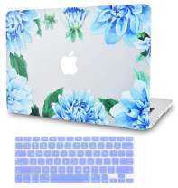 LuvCase2in1LaptopCaseforMacBookAir 13 Inch A1466/A1369 (No Touch ID)(2010-2017)RubberizedPlasticHardShellCover &KeyboardCover (Blue Cornflower)