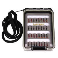 wifreo Fly Fishing Fly Kit Fly Fishing Lure Dry Wet Nymph Streamer Scud Beadhead Stonefly with Waterproof Fly Box