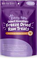 Freeze Dried Chicken Treats for Dogs & Cats - Raw Human Grade & Free Range Chicken Breast - Healthy Dog & Cat Training Snacks + Topper for Wet & Dry Food - Rich Source of Protein & Amino Acids
