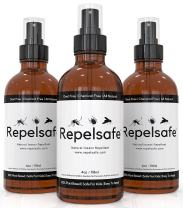 Natural Bug Spray Repellent By RepelSafe - Tick repellent for humans - Bug Repellent Spray For Ticks, Mesqueots, Fleas, Flies, Gnats, & More. Bug Spray For Kids - Travel Size (3 Pack, 4oz)