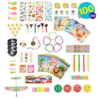 THE TWIDDLERS 100 PCS Kids Party Toys | Assorted Party Favors Toys for Kids | Birthday Goody Bag Fillers Toys | Treasure Box Refill | Pinata Stuffing | Indoor Activity Hours Play Entertainment for Kid