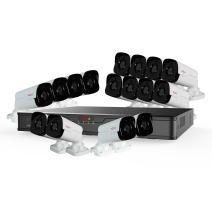 Revo America Ultra 16Ch. 8TB HDD 4K IP NVR Surveillance System - Fixed Lens 16 x 4MP Audio IP Bullet Cameras (Built-in-MIC) - Remote Access via Smart Phone, Tablet, PC & MAC